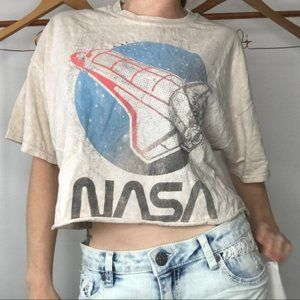 Nasa Crop Top By true Vintage Size Large